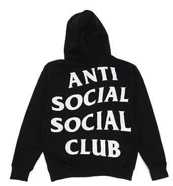 07da50edc20e Anti Social Club Hoodie Inspired Kanye West Sweatshirts Unisex Hooded Jumper  (Large