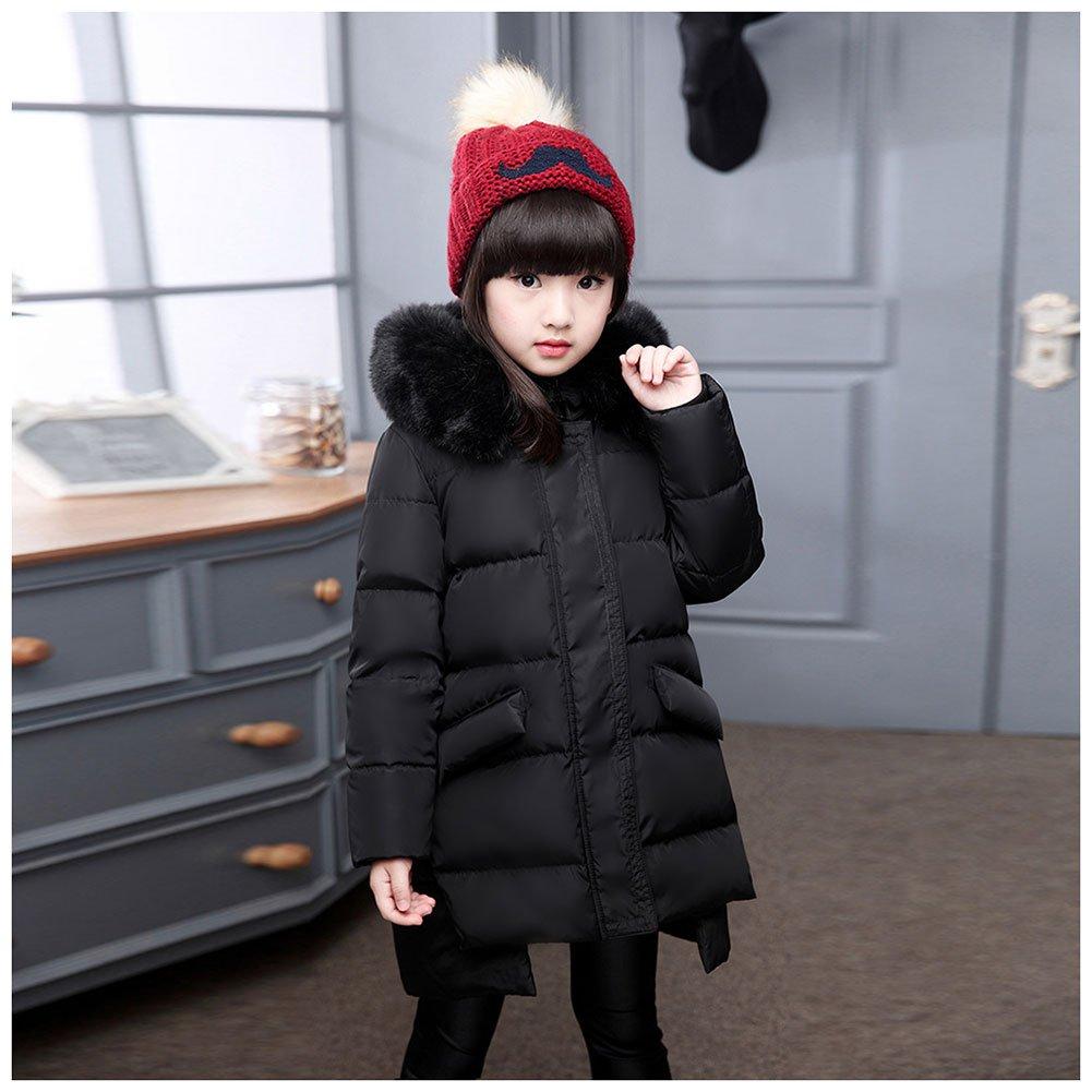 Free Fisher-Giacca Piumino con Cappuccio Bambina Cappotto Irregolare Snowsuit Ragazza Inverno C726912D9W5U5U