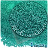 The Crafts Outlet MCR-GLS-MTL-MA6-TRQ Metallic Glass Microbead, 1 Bag of 1-Ounce, Turquoise