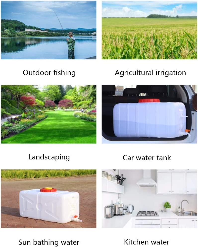 DLYDSS 28L-80L Horizontal Water Storage Tank Suitable For Field Travel Car Use Plastic Water Container Size : 30L Water Buckets With Tap
