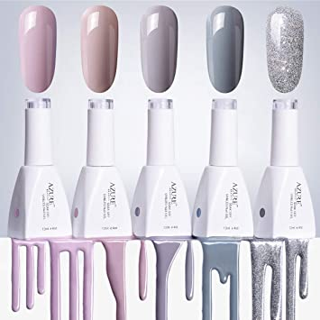 Amazon Gel Nail Polish Set12ml Nude Gray Series 5 Colors