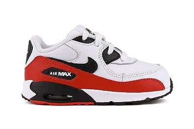 pas mal 7295e d4c31 Nike Air Max 90 Bébé Blanche Rouge Blanc 23œ: Amazon.fr ...