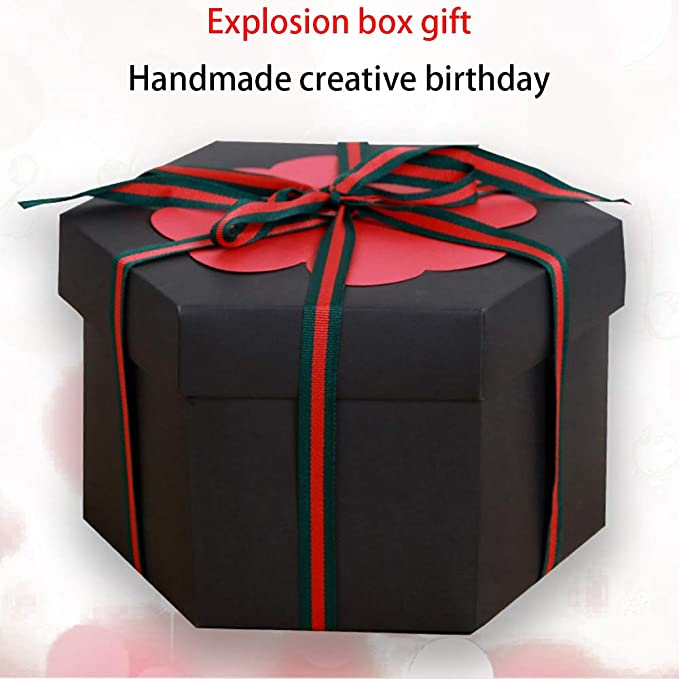 xianhu Caja de explosión de Regalo Creativa Hexagonal de múltiples Capas Caja Sorpresa DIY álbum: Amazon.es: Hogar