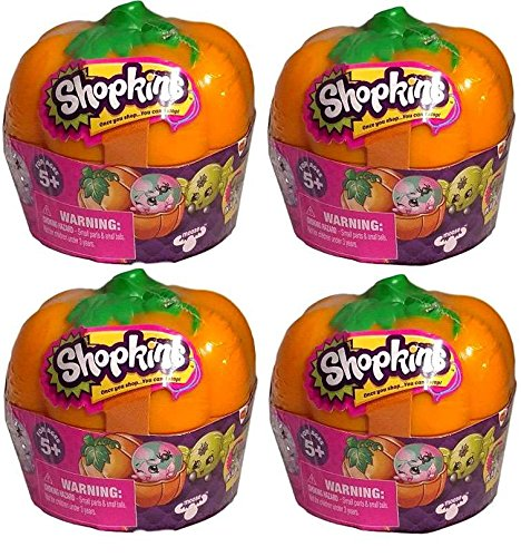 Toys R Us Halloween Costumes 2016 (Shopkins Halloween Pumpkin 4 Pack (2 units per pumpkin) Limited Edition)