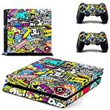 Yosoo Skin Sticker for PS4 Playstation 4 Console and Controller Electroplating Decal (Multicolor)