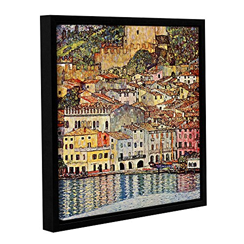ArtWall Gustav Klimt's Malcesina at Gardasee Gallery Wrapped Floater Framed Canvas, 36 by 36
