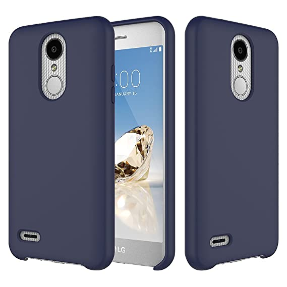 LG Zone 4 Case, LG Tribute Dynasty Case, LG Aristo 2 Case, Rosebono Slim  Design Silicone Gel Rubber Cover with Soft Microfiber Lining Protection