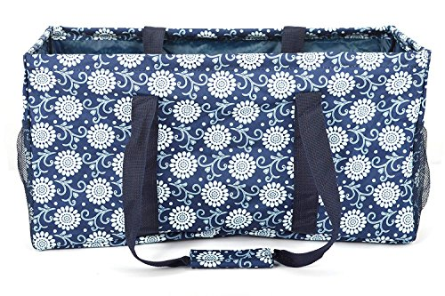 All Purpose Side Pocket Utility Tote/Utility tote/Large tote/Beach Bag/Reusable Shopping Bags (NW Circle Sun Flower-229, 23