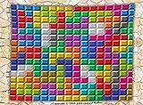 Video Games Fleece Throw Blanket Colorful Retro Tetris Gaming Computer Brick Blocks Image Puzzle Digital 90s Play Throw