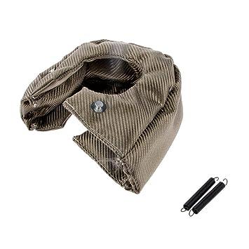 MagiDeal 1pc Manta Protectora Térmica Contra Calor Escudo Cubierta de T4 Turbo Coche con 2pcs Resortes: Amazon.es: Coche y moto