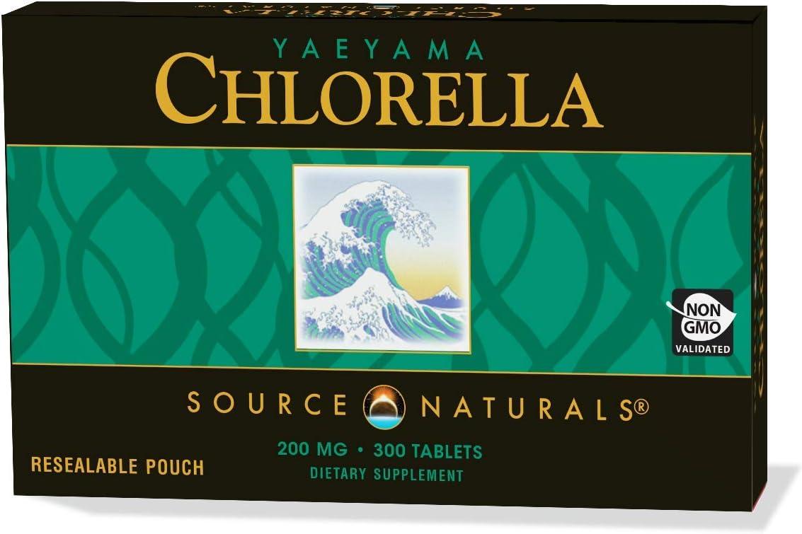 Source Naturals Yaeyama Chlorella, 200mg, 300 Tablets