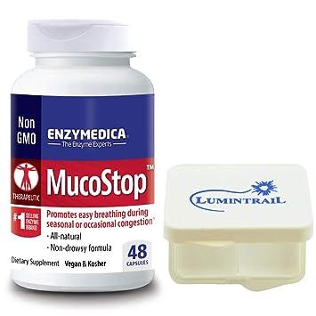 Amazon.com: Enzymedica - MucoStop, para el alivio de la ...