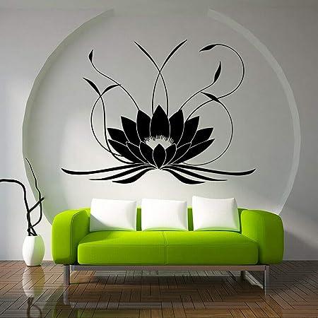 jiushixw Mandala Lotus Etiqueta de la Pared Vinilo Yoga ...