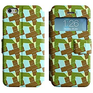 LEOCASE flecha lindo Funda Carcasa Cuero Tapa Case Para Apple iPhone 5 / 5S No.1007460