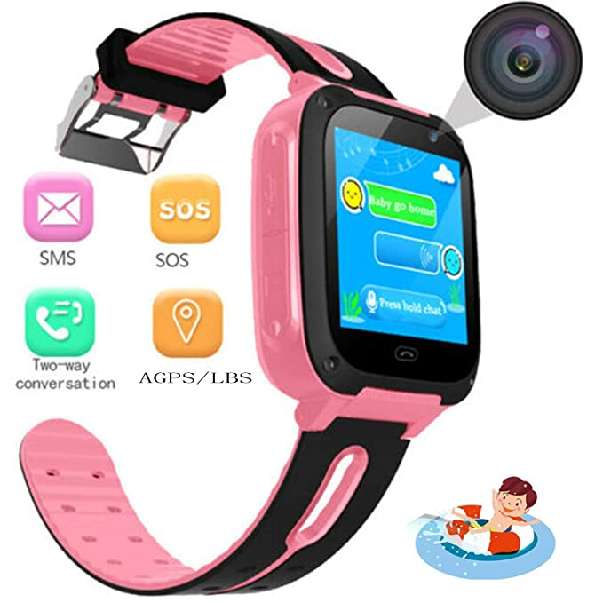 Kids Smart Watch - Children Smartwatches with SOS Voice Chat Camera Flashlight Alarm Clock Digital Wrist Watch Smartwatch Girls Boys Birthday Gifts ...