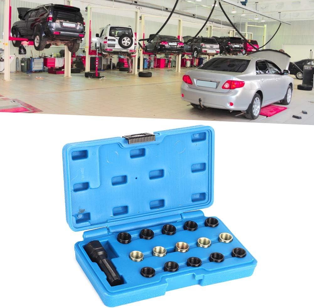 Thread Repair Insert Kit 16Pcs//Set Spark Plug Thread Repair Kit Tap Rethreading Tool M14 x 1.25mm