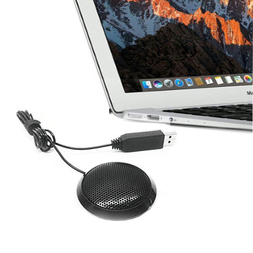 Recording VoIP Calls with 360/° 10ft Pickup Range -Plug /& Play Video Meeting Sumje Conference USB Microphone Skype Portable Stereo Omnidirectional Condenser Computer Microphone for Mac Gaming