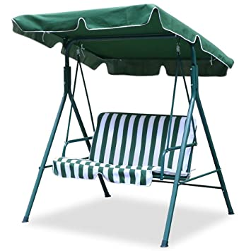 world pride 2 seater green outdoor patio garden swing cushioned canopy furniture hammock amazon    world pride 2 seater green outdoor patio garden swing      rh   amazon