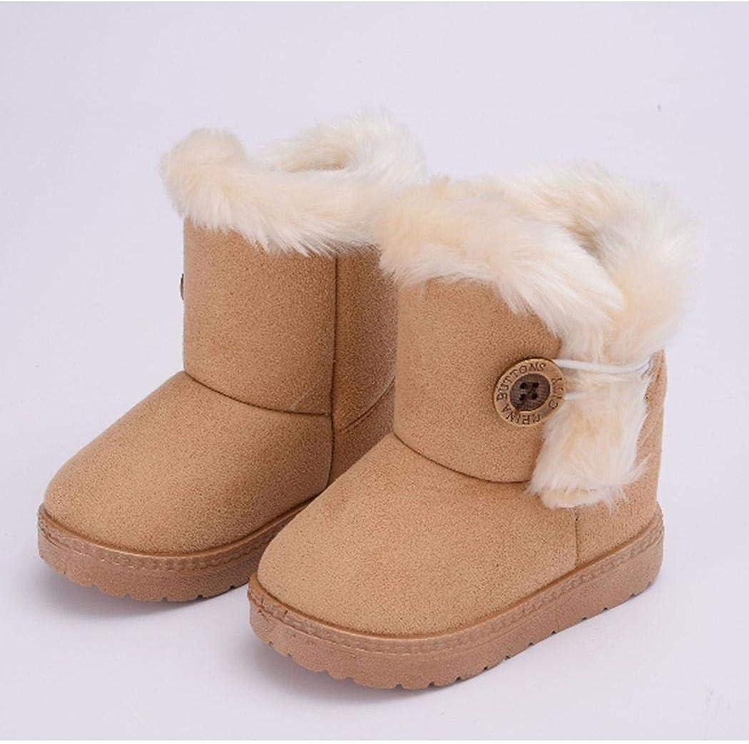 tiowea Nouveaux Enfants Mode Hiver Bottes de Neige Douces /épaississement Chaud Bottes et Bottines