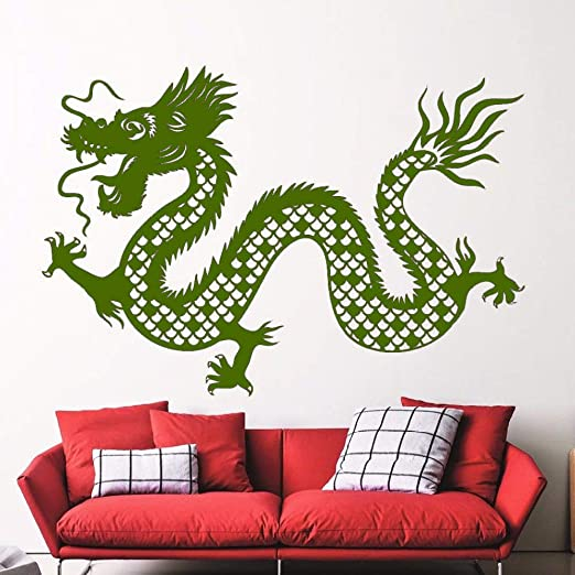 xingbuxin Dragon Animal Tatuajes de Pared Grandioso Mural de Arte ...