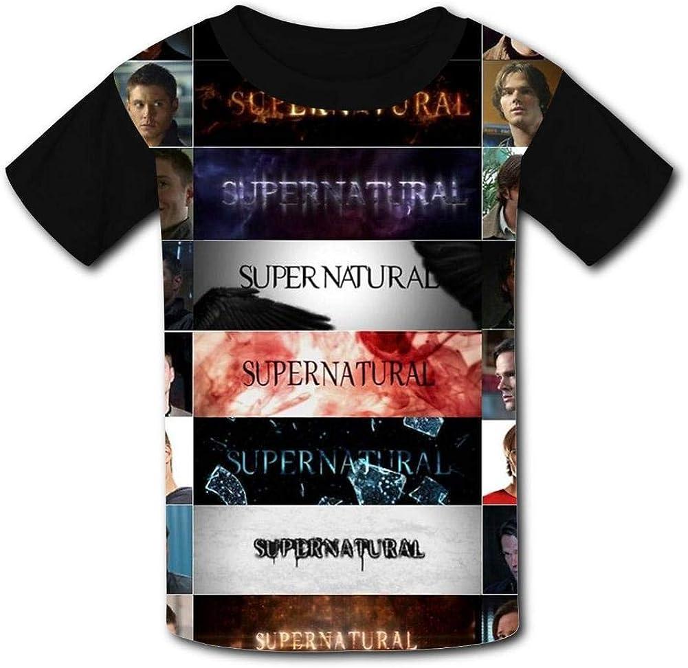 ANNAA NAME Black Raglan T-Shirts Short Sleeve Super Fantasy Mystery Natural Tee for Boys Girls