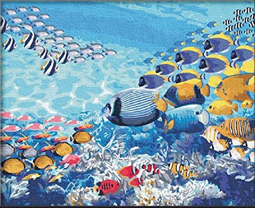 DIY Painting Sea World Paint By Number Kits Still Life Paint By Numbers Kits digital oil painting 16x20 inch No frame