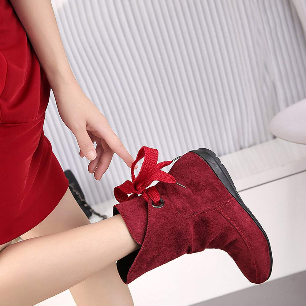 Zapatos De Mujer,RETUROM Botas De Mujer Botines Mujer Invierno Oto/ñO Negro Plano Pierna Alta Ante Casual Largo Alto Botas De Color S/óLido Plana Martin Altas Botas Largas Zapatos Casuales