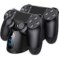 PS4-kontrollladdare, BEBONCOOL PS4-kontroll trådlös laddare med USB-laddningskabel, PS4 laddare kontroll laddningsdocka…