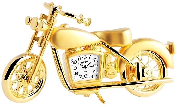 Dawn Analog Reloj en miniatura mesa Reloj Reloj de pie con mecanismo de cuarzo y diseño de rueda de motor 300402000007 Oro Coloreado Carcasa 5,8 cm: ...