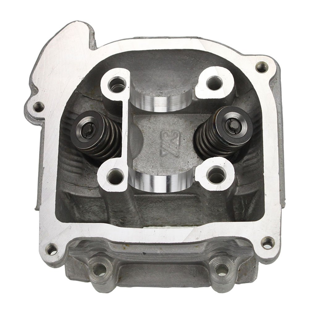 GOOFIT Cylinder Head with Valve for 4 Stroke GY6 49cc 50cc Scooter Moped 139QMA 139QMB Engine Part