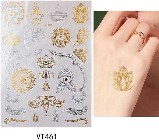 adgkitb 3pcs Astilla metálica Impermeable Tatuaje Elefante Pulsera ...