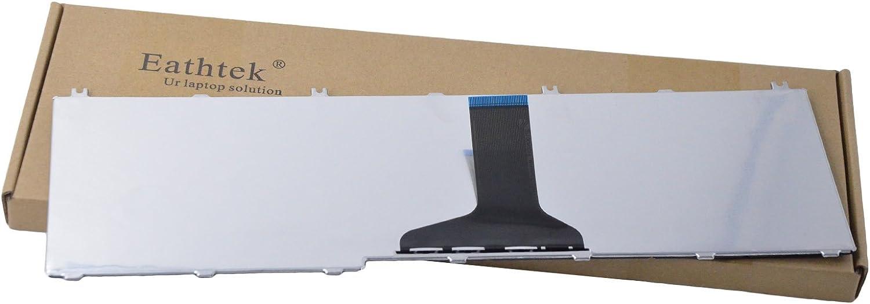 Eathtek Replacement Keyboard for Toshiba Satellite L655D-S5109 L655D-S5093 L655-S5150 L655-S5059 L670 L670D L675 L675D NSK-TN0SV NSK-TN001 PK130CK2A00 PK130CK2A00 A000076070 Series Black US Layout