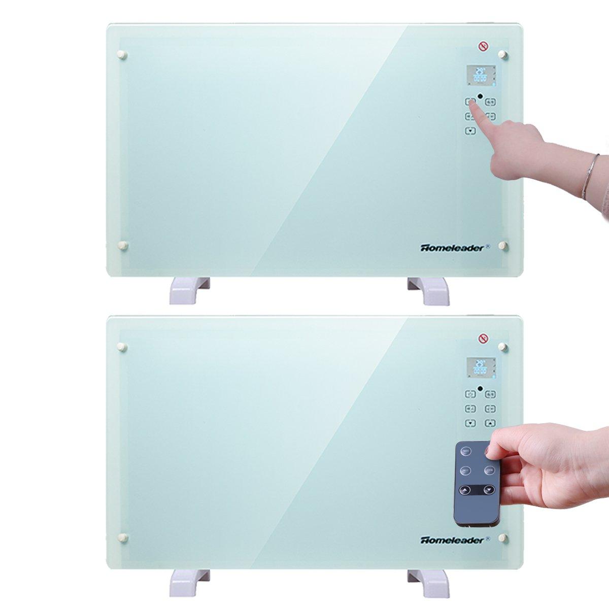 Amazon com: Homeleader Electric Panel Heater GH-15F, Crystal