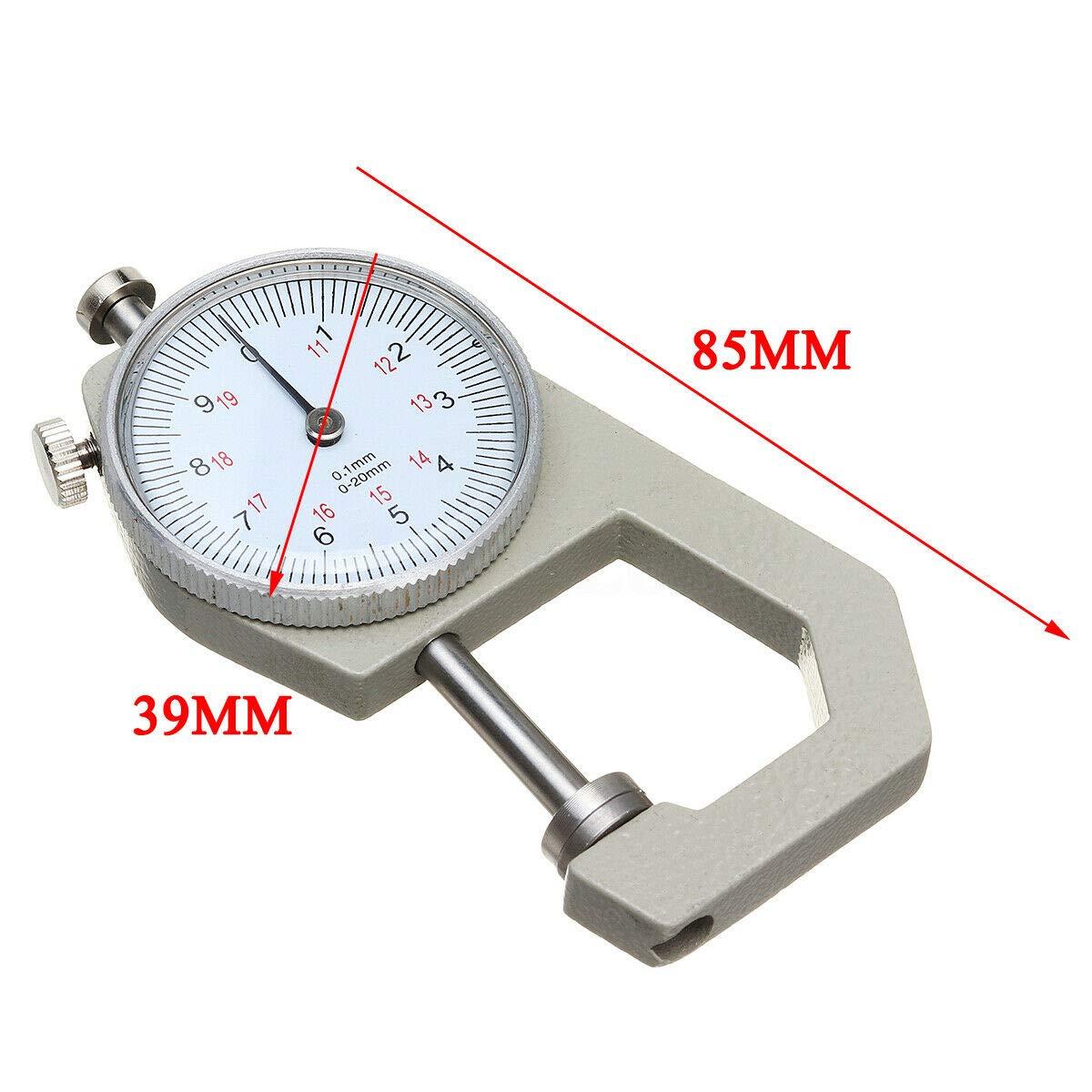 electr/ónica pr/áctica AKDSteel Herramienta de Calibre 0 a 20 mm Medidor de Espesor de Bolsillo