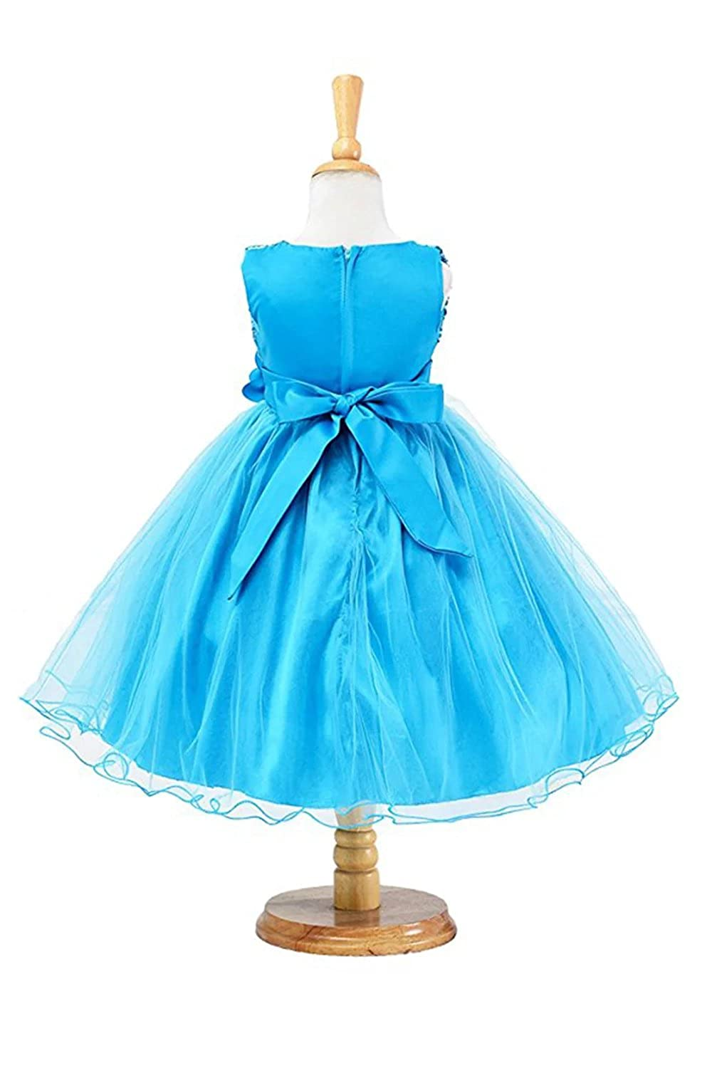 e0244a8e93 Amazon.com  ZAH Sequin Mesh Flower Party Wedding Gown Bridesmaid Tulle  Dress Little Girl  Clothing