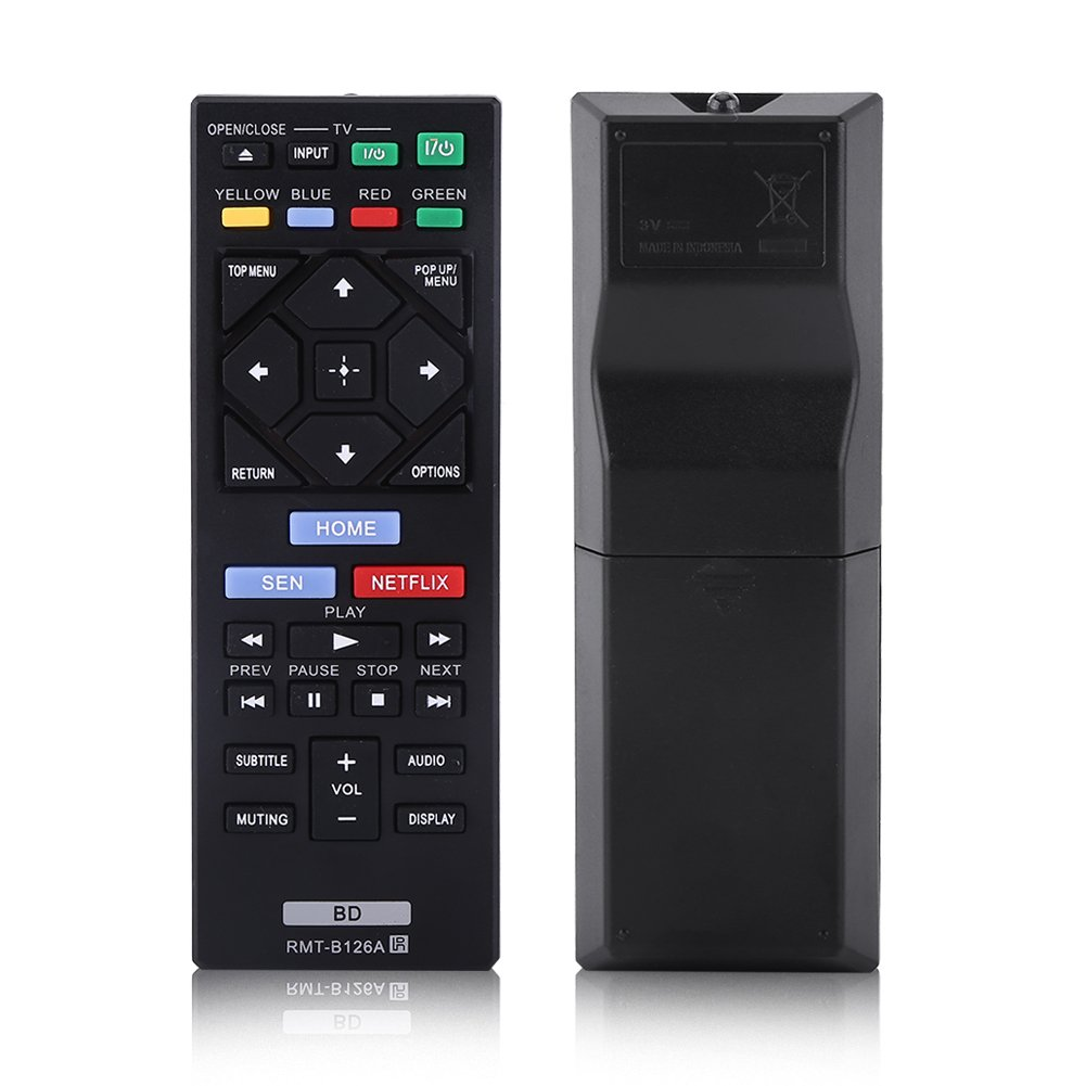 Universal Remote Control Replacement for Sony Blue Ray Player RMT-B126A, Blu-Ray Player Remote Control for Sony Zerone