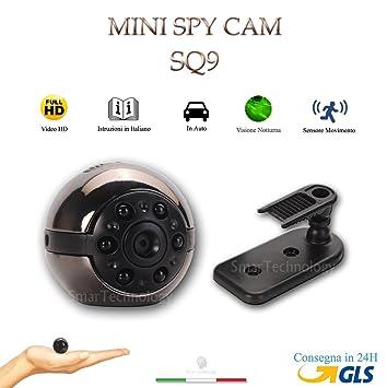 SQ9 Microcámara espía con infrarrojos, visión nocturna, para vídeo full HD.: Amazon.es: Bricolaje y herramientas