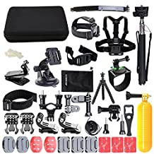 Action Camera Accessory, CCbetter 50-in-1 Action Camera Travel Accessory Kit for Gopro Hero 6 Hero 4 Hero 5 Session Hero 1 2 3 3+ SJCAM & Most of Sports DV/Dash Cam