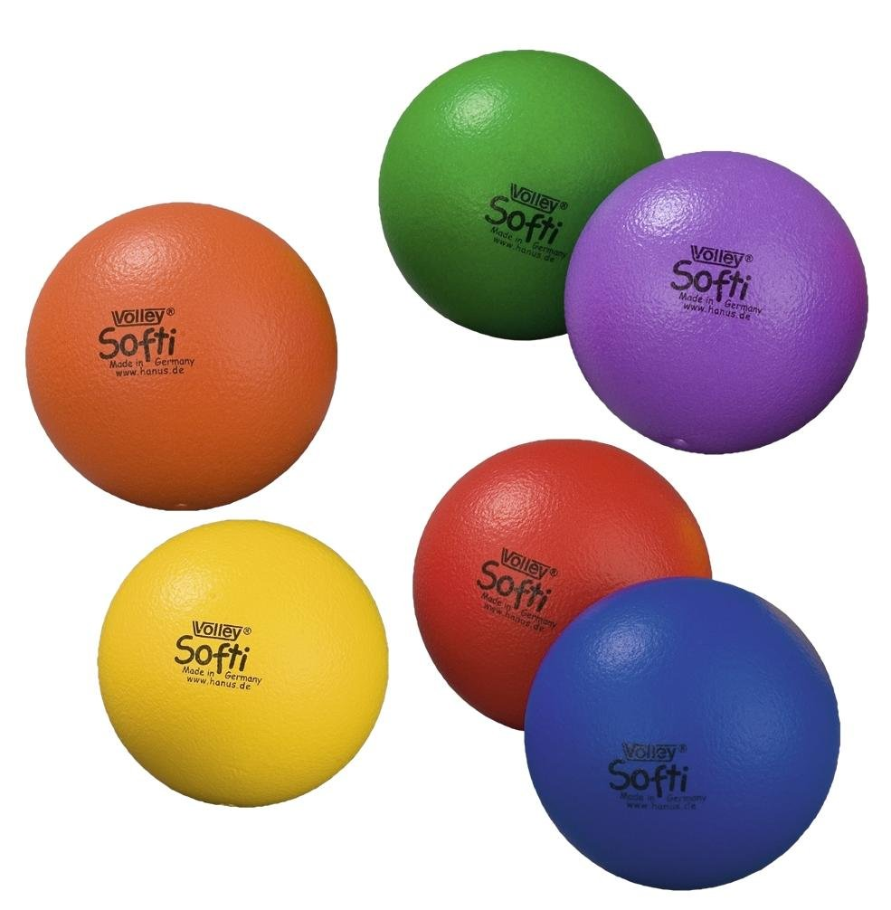 Volley Softi, 16 cm de diámetro, Naranja, 16 cm