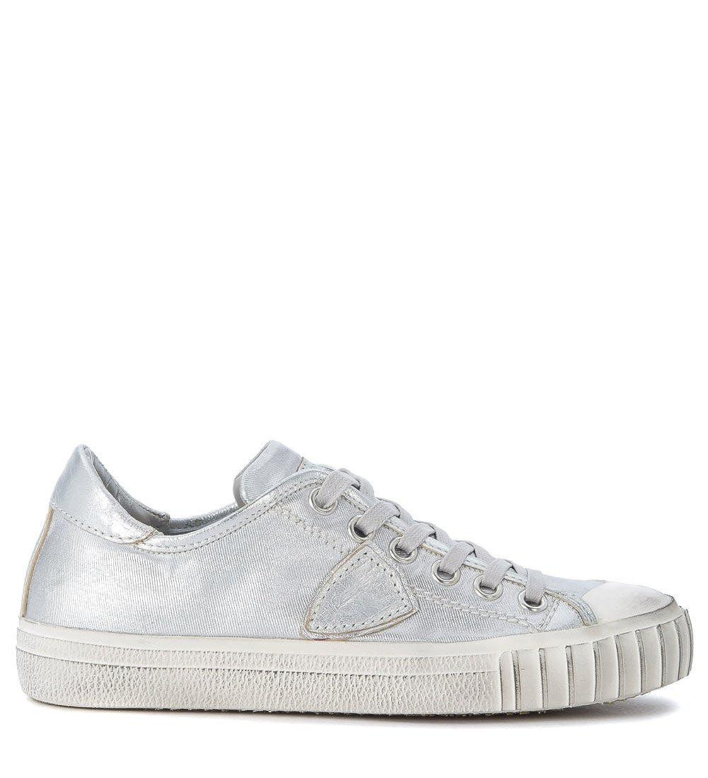 PHILIPPE MODEL Woman's Gare Silver Silver Silver Fabric Sneaker B07921KCJC Fashion Sneakers a5a096