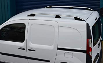 Silver Vauxhall Vivaro 2014 ON SWB Aluminium Roof Rails and Cross Bars