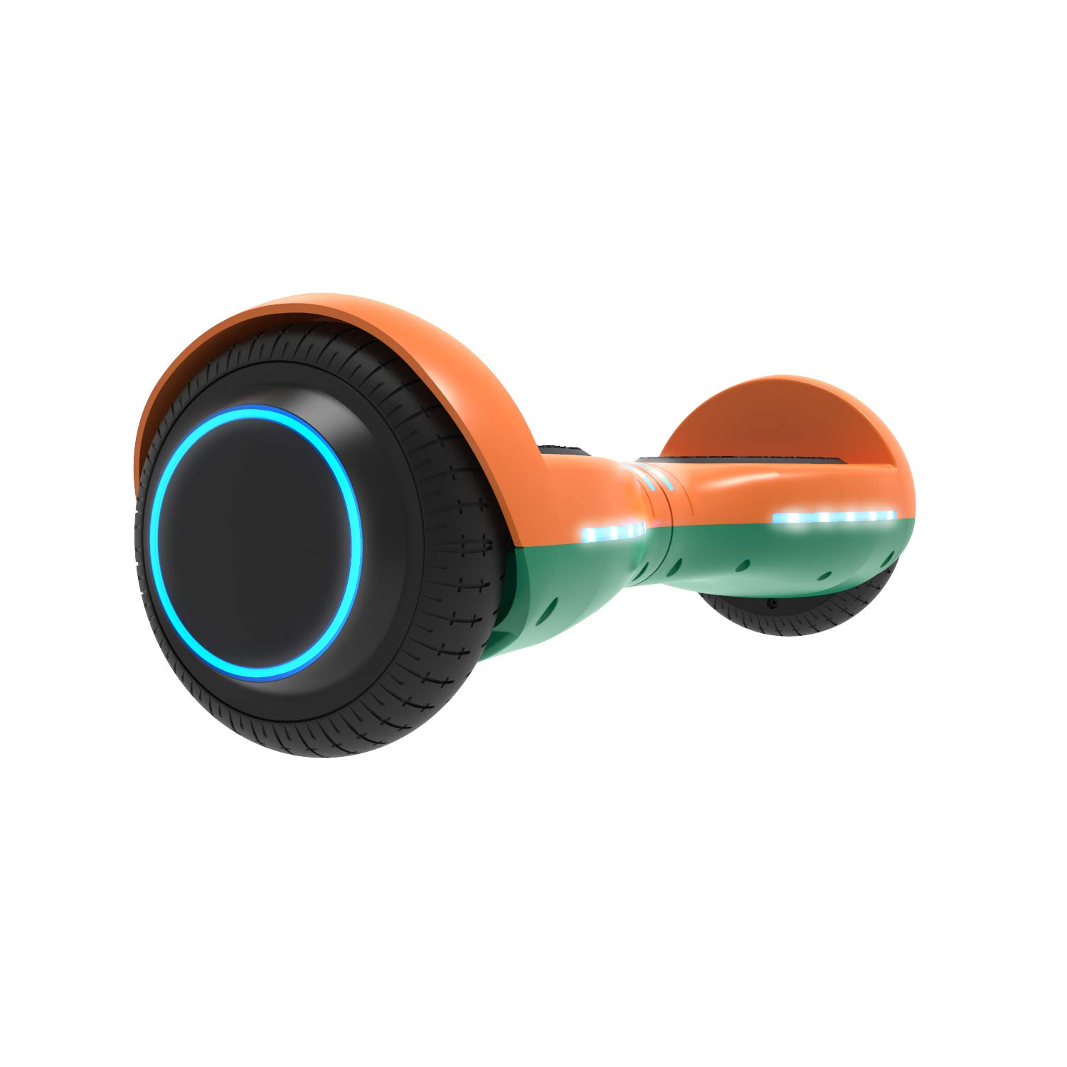 GOTRAX ION LED Hoverboard - UL Certified Hover Board w/Self Balancing Mode (Orange/Green)