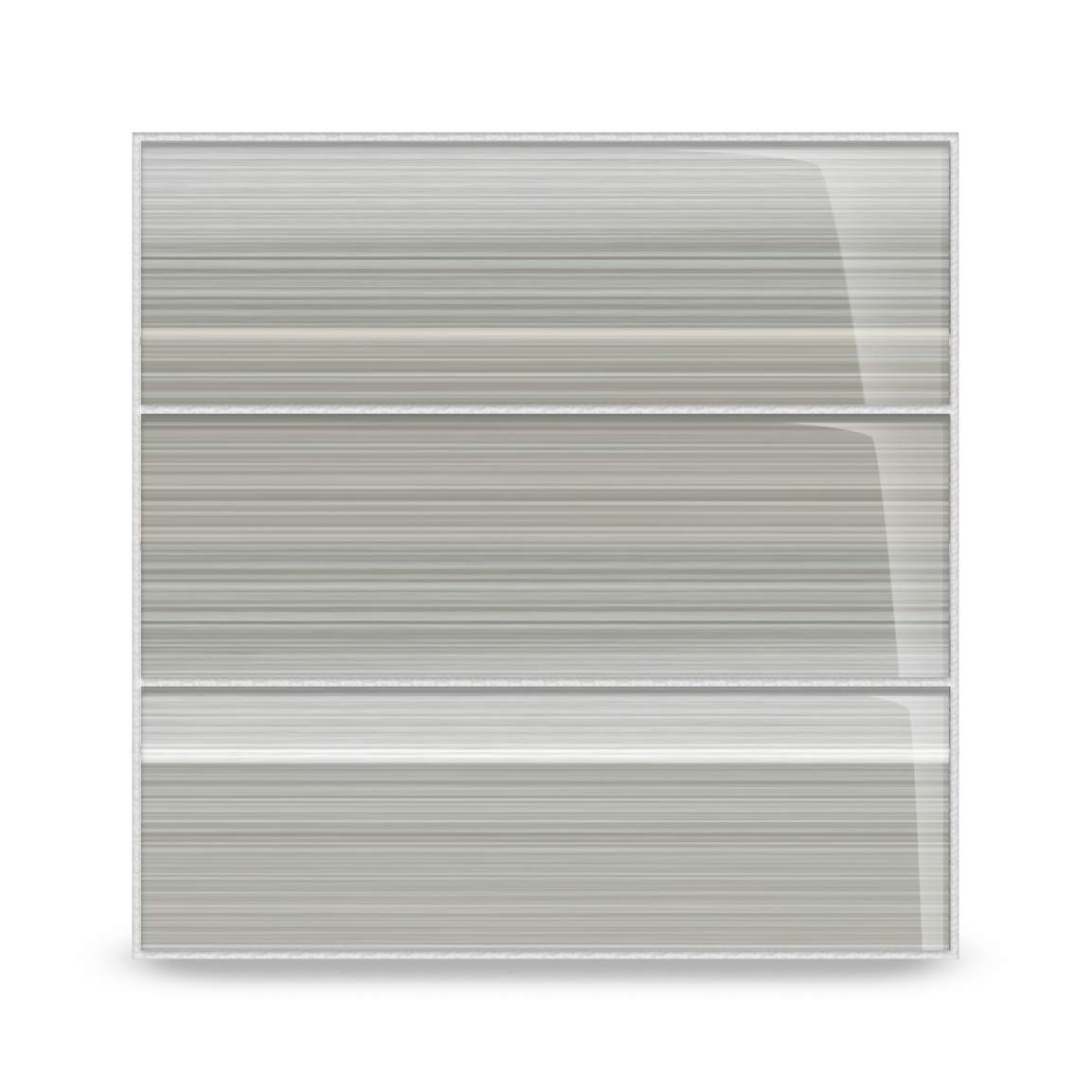 Gray Glass Subway Tile Gainsboro for Kitchen Backsplash or Bathroom from Bodesi, 4x12 by Bodesi - Mosaic and Glass Tile
