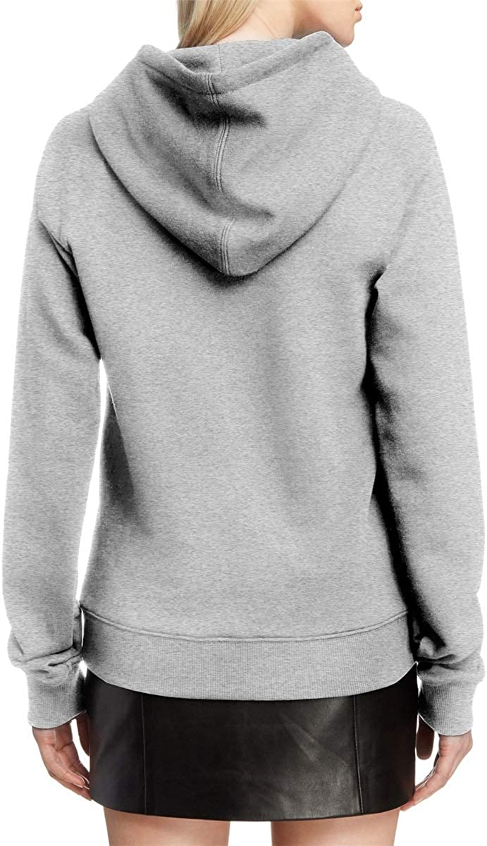 COOLGOOD Lund-Silver-Large-Logo Womens Fleece Outdoor Pullover Sweatshirt Sweater Long Sleeve