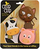 Chip Clip Animal Clips, Your Best Friends in the Home or Office (2.5 X 3, Farm)