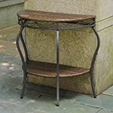 International Caravan Valencia Half Moon Patio Table in Antique Brown Review