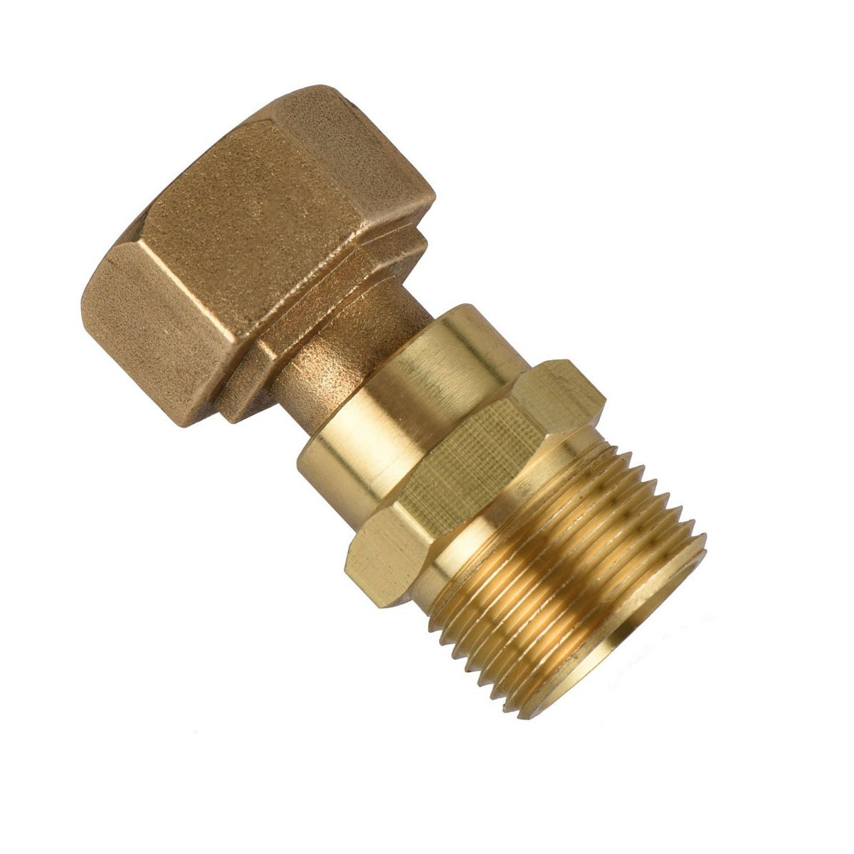 DUSICHIN DUS2222 Gun-Hose Swivel Joint, Kink Free Hose Fitting, Anti-Twist Hose Brass Fitting for Pressure Power Washer Hoses by DUSICHIN