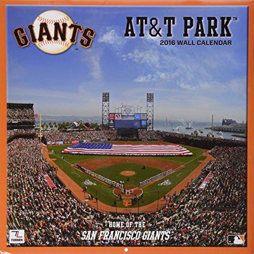Turner San Francisco Giants AT&T Park 2016 Stadium Wall Calendar, Sept. 2015-December 2016 (8011968)