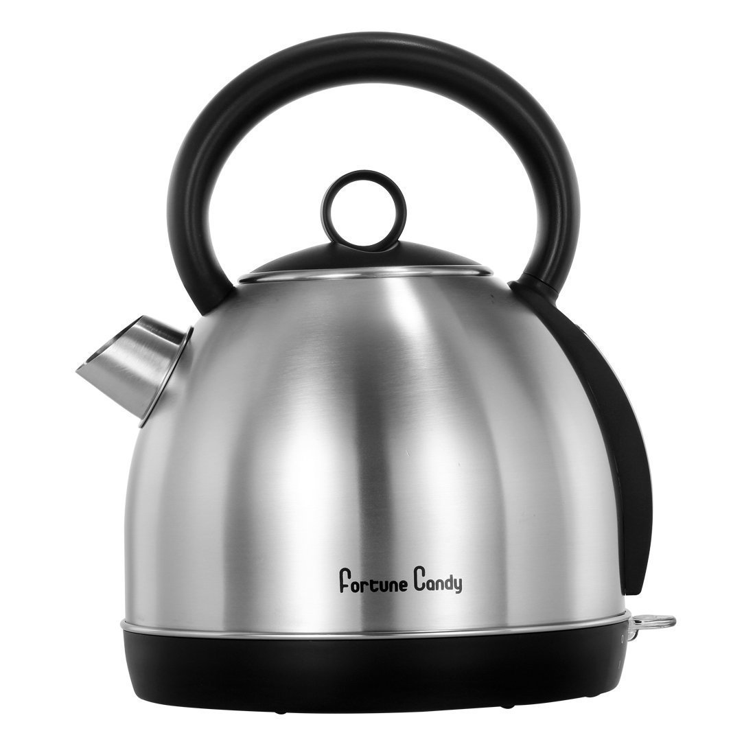 MLO E-CO Stainless Steel Electric Kettle Tea Pot (BPA Free) - Fast Boiling Water Kettle with Visible Indicator Window, 1500W and 1.7L (Round)