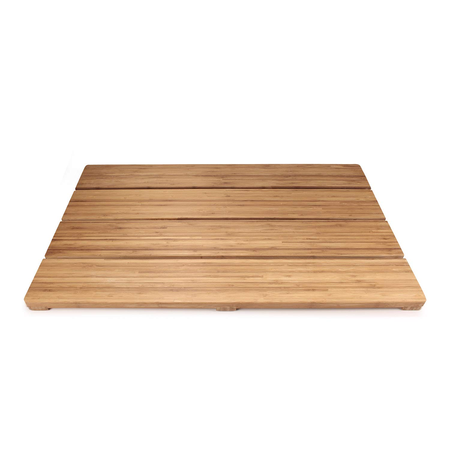 BambooMN Brand - Spa Style Raised Bamboo Bathmat - Extra Large Rectangle